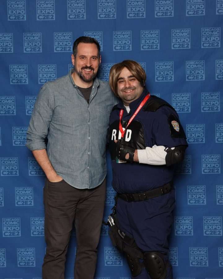 Professional photo of RJ and Travis Willingham taken at C2E2 2020.