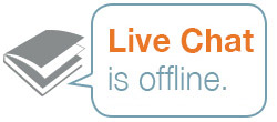 Live Chat With a Librarian logo, displayed on GSU's library page. Click it when it's online to access chat services.